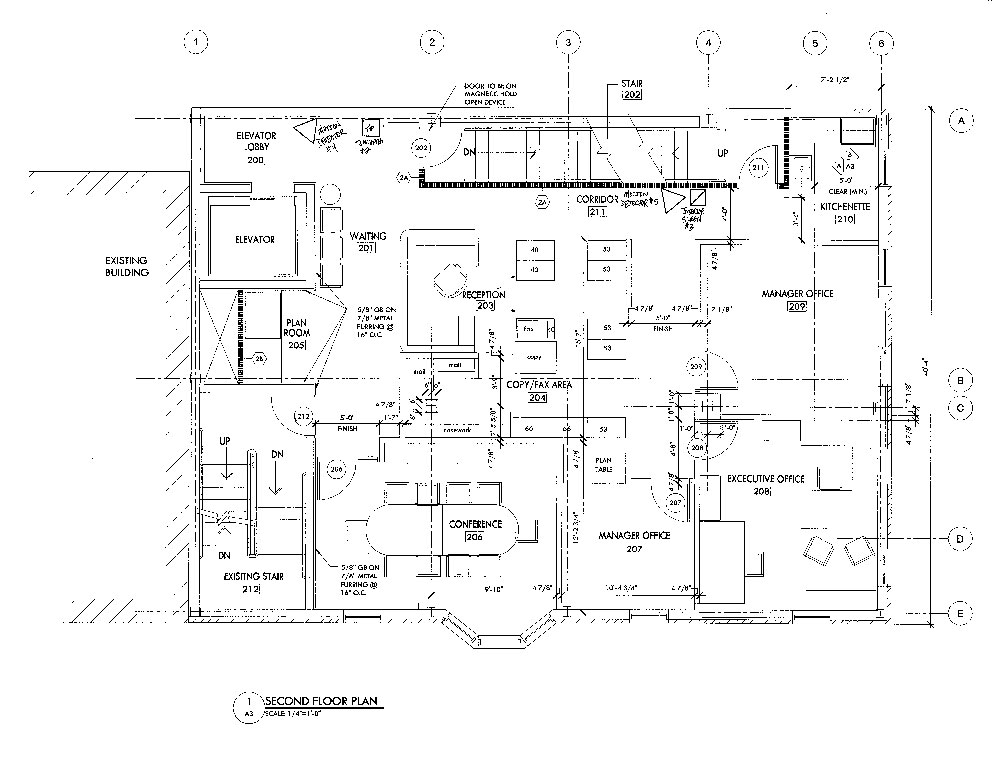 Emerald Realty Group: Class A Office Space for Lease at 574 Main Street in Bethlehem, PA Floor Plan for 2nd Floor
