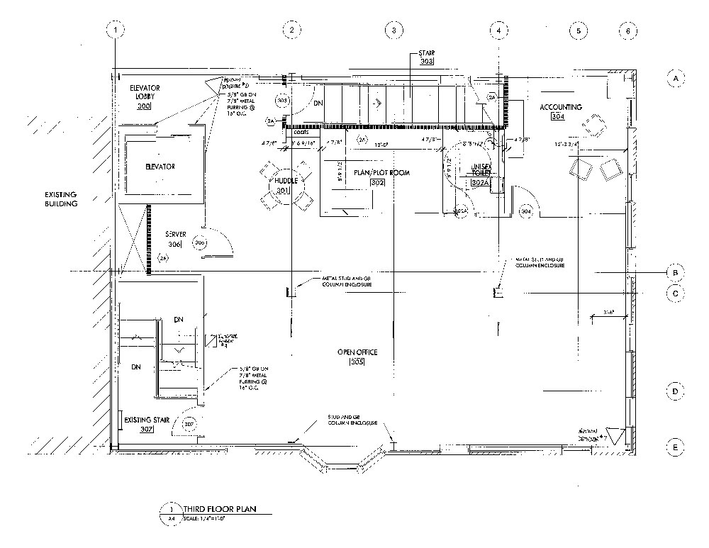 Emerald Realty Group: Class A Office Space for Lease at 574 Main Street in Bethlehem, PA Floor Plan for 3rd Floor
